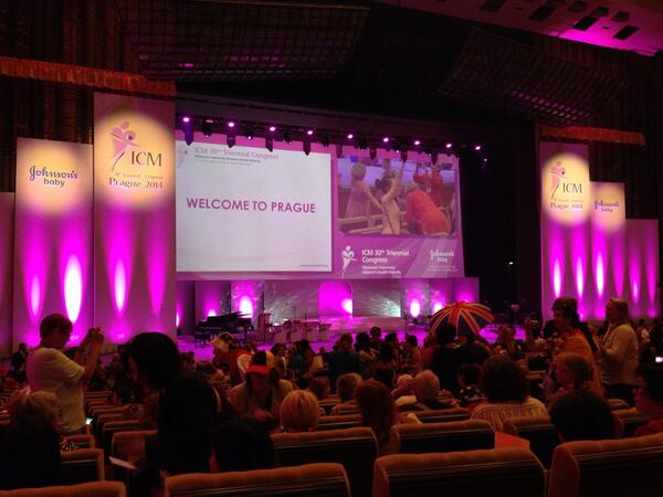 The @world_midwives opening ceremony is about to begin here in Prague. Follow all the live tweets thru #ICMLive! http://t.co/iGpkgBXj5m