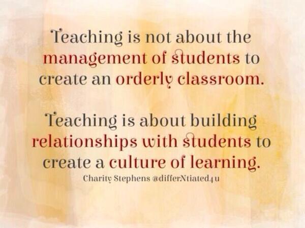 Thanks @DocbobLA - spot on re relationships and the classroom @EduTweetOz #aussieED #pstchat @SueRoffey @WellbeingOz http://t.co/2Tk0sXaFN5