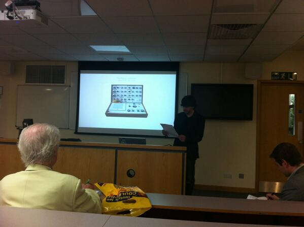 Steve Gisby talks about process in his pieces - here talking about the Putney Synthesizer #muspro14 http://t.co/L6TkBMWwka