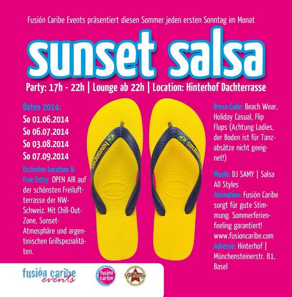 Fusion Caribe Basel On Twitter Sunset Salsa Is Back This