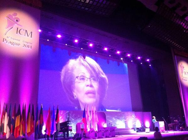 @world_midwives welcomes all 3200 midwives at #ICM2014. Midwives save lives. The world need more midwives #ICMLive http://t.co/gmByl3mwnq