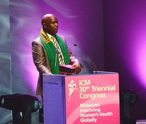 Congrats to Kingsley Musama from #Zambia for winning the Marie Goubran Award! #ICMLive http://t.co/JTrEH65DKn