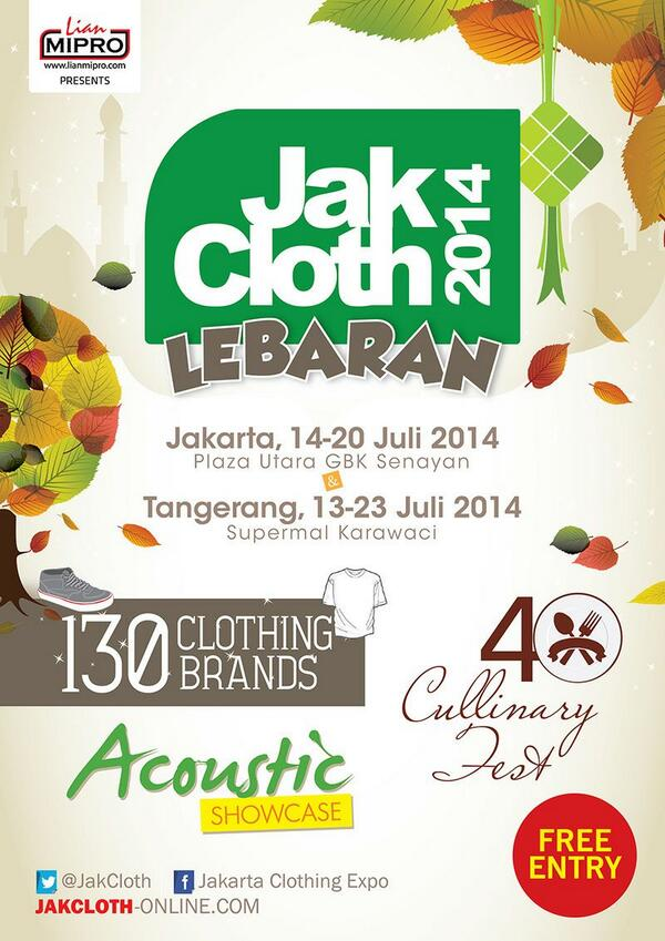 Berakhir sdh JakCloth Summer Fest,thx bwt semua support 5th Anniversary JakCloth,ketemu lg kita di JakCloth Lebaran! http://t.co/WlkrGzEE4n