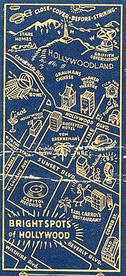 Twitter / CHANNINGPOSTERS: Photo: a matchbook/map of ...