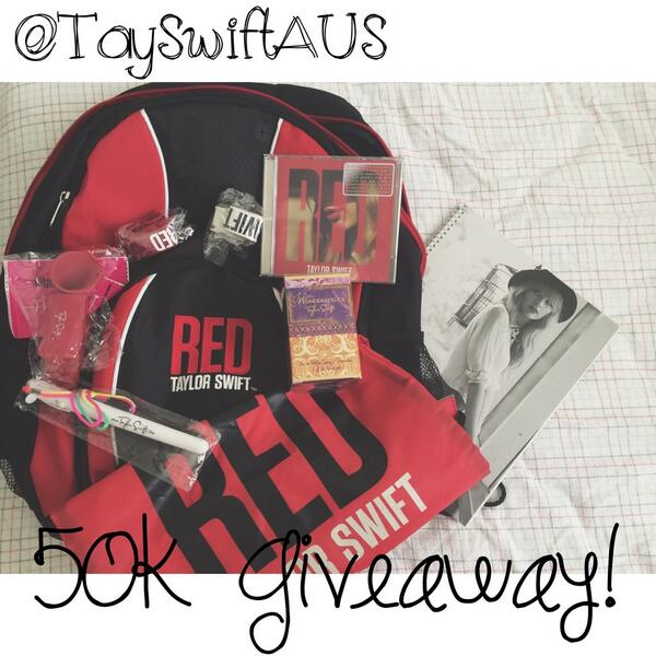 50K GIVEAWAY! Get REDy for details! Make sure to be following and RTing! http://t.co/PKWLD0Ayid