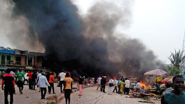 Fourteen killed and twenty-six more injured at a Nigerian World Cup watch center (Twitpic/NBCLA)