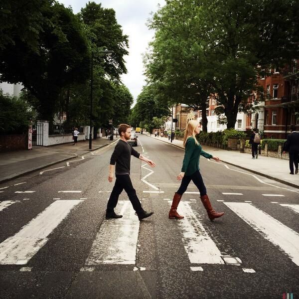 Just strolling down Abbey Road. http://t.co/XlH9HjR554