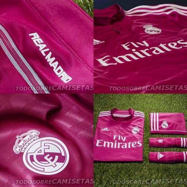 camiseta real madrid rosa