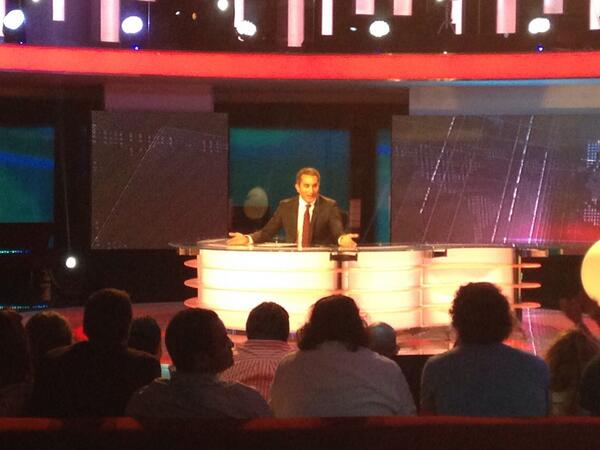 """@TamerELG: Bassem Youssef arrives at his press conference. To announce the program is over. http://t.co/DOF62rILhg"" cc @ASE"