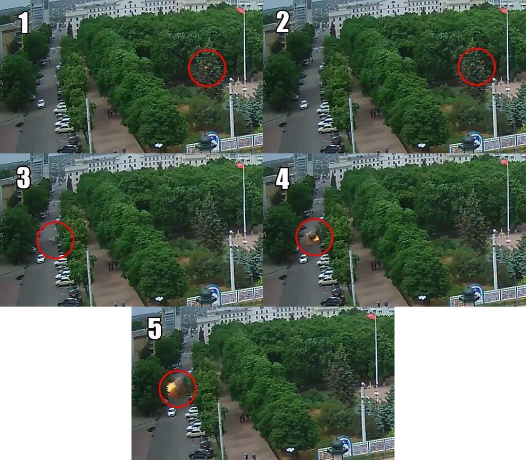 Взрыв в Луганской ОГА спровоцировала ракета, выпущенная из захваченного террористами здания УСБУ, - милиция - Цензор.НЕТ 3319