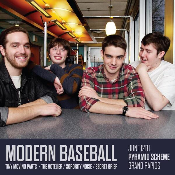 RETWEET for a chance to win 2 tickets to see @ModernBaseball - 6/12 at @pyramidschemegr! - http://t.co/6ixj1GNvzC http://t.co/5vmOeRcT0v