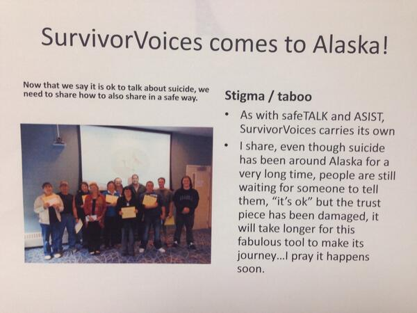 The following visual successes are being shared by Barbara Franks here at @ANTHCtoday #pennalaska14 #youthsuicide http://t.co/yOMvwRU6SQ
