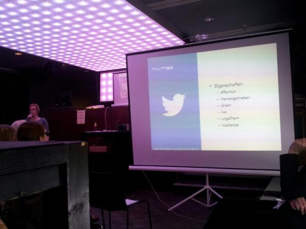 Top Vortrag zum Thema #Twitter von #Christina #Quast auf der #BARsession im #Daddy #Blatzheim im #Westfalenpark http://t.co/8nfA9uwxDM