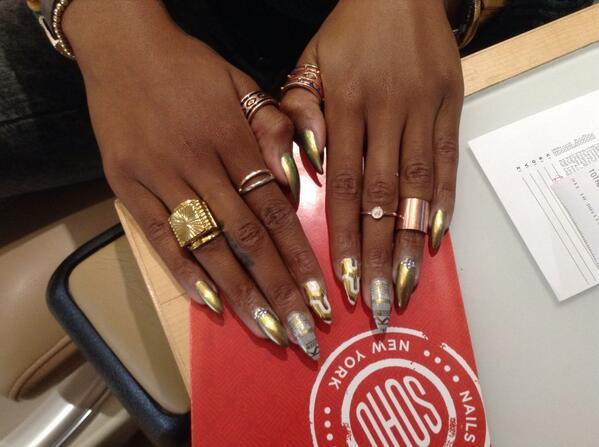 Soho Nyc Salon On Twitter Nomuzi Mabena Got Some Stunning Nail Art