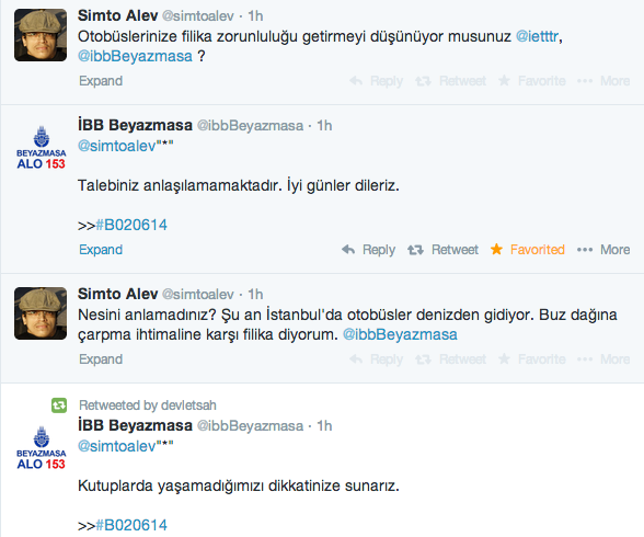 Akşam akşam @simtoalev ile @ibbBeyazmasa nın muhabbeti kahkaha krizine soktu beni http://t.co/U519wqAOhD