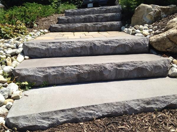Cst Pavers On Twitter Landscape Steps Make An Ideal And Inviting Entry To Any Paver Patio Hardscaping Cstpavers Http T Co Kagfmxkza6