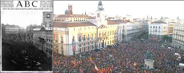 """AntonioMaestre on Twitter: """"Puerta del Sol. 14 de abril de 1931 y ..."""