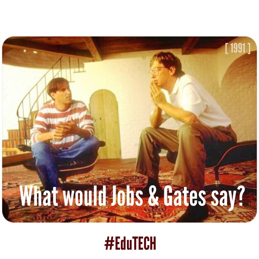 Twitter / jnxyz: What would Jobs and Gates say? ...