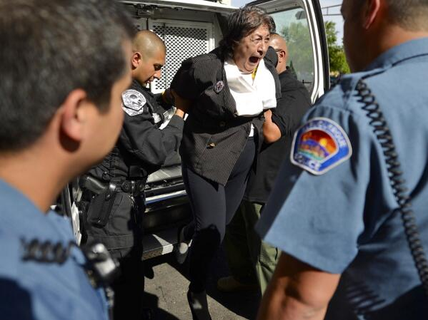 APD protesters arrested at Mayor's Office http://t.co/a6hT8Pas0Y via @McKayDan #abq #nm #dojapd Pic: @rosalesquique http://t.co/PWT90yVmFg