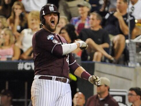 I bet @HailStateBB's Wes Rea eats baseballs like apples between innings. http://t.co/IpmmOeYda5