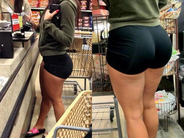 Business. Amature female in booty shorts at wal mart assured, what