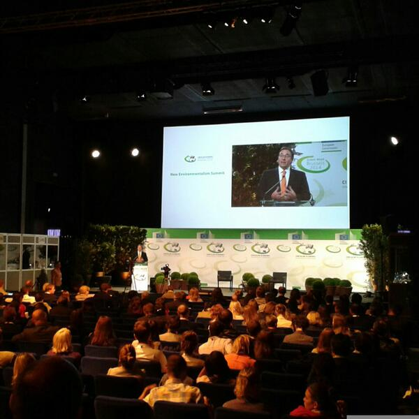 New environmentalism = not denying past but understanding how our times are different - A.Steiner @UNEP #EUGreenWeek http://t.co/6Mp9h198YL