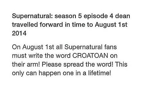 Just a reminder because August 1st is coming :D #SPN https://t.co/uGGzMCQ2f0