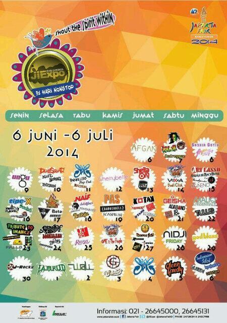 jadwal konser musik prj 2014