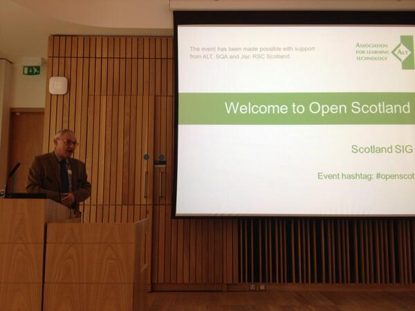 .@joecar kicking off the second #openscot meeting, facilitated by the @A_L_T Scotland SIG http://t.co/F1GjTj5cOg
