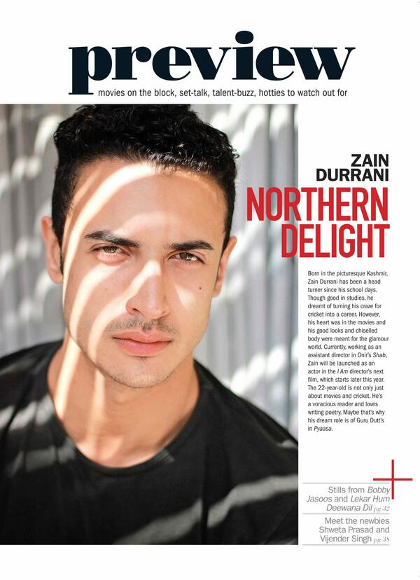 J On Twitter And Yes A Sneak Peek At Onirs Brand New Hero Zain Durrani Only In Filmfare T Co Vgzkqrbuls
