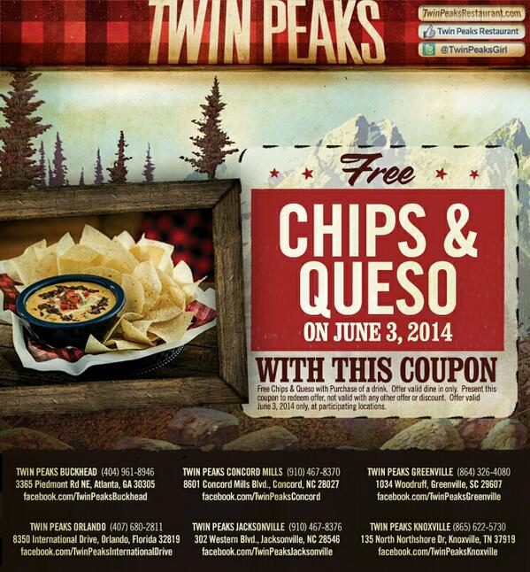 twin peaks coupons 2019
