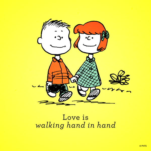 "PEANUTS On Twitter: ""Love Is Walking Hand In Hand. Http"