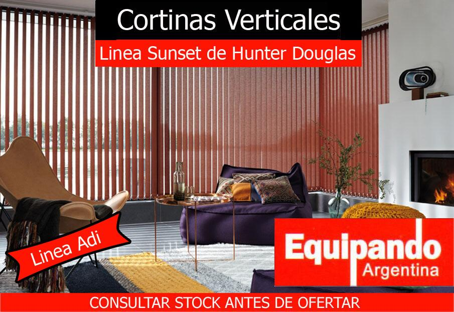 Cortinas de bandas verticales marca sunset de hunter for Cortinas verticales precio