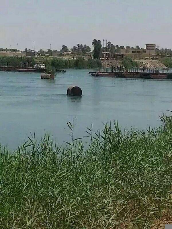 تفجير جسر المأمون في الرمادي اليوم الثلاثاء 3/6/2014