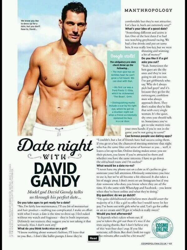 David gandy Dating-Liste Norden va Speed Dating