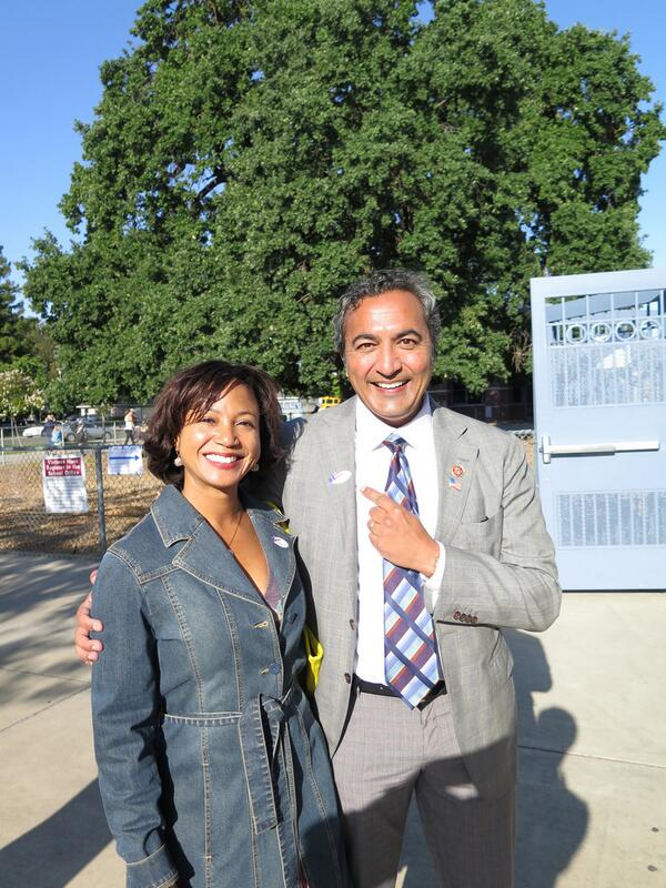 Primary day is here! My wife Janine & I voted this morning in Elk Grove. Make sure you vote today before 8 pm! #ca07 http://t.co/QnyssY7PIg