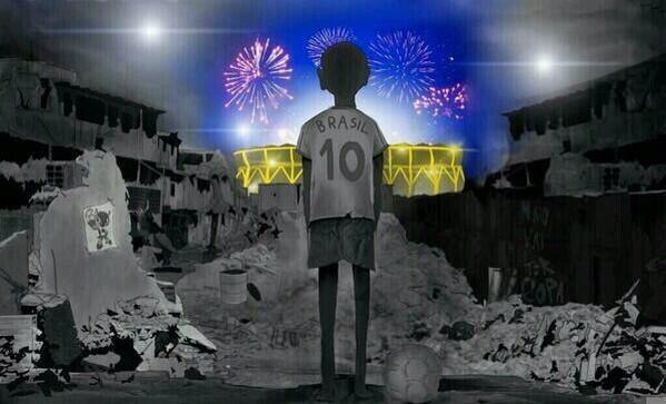 """""""@TipsFutbol: Un joven brasileño de 17 años llamado Ivan Navarro, describió al Mundial Brasil 2014 en una imagen: http://t.co/U8HqrcQeYi"""""""