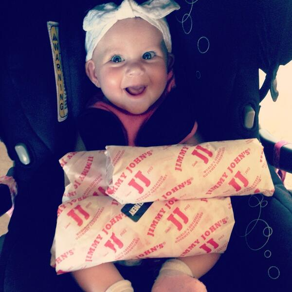 "Baby girl loves @jimmyjohns ""unwiches"" too :-) #eatclean #glutenfree #grainfree #paleo #glutenfreemommy http://t.co/wwHOrs4Gut"
