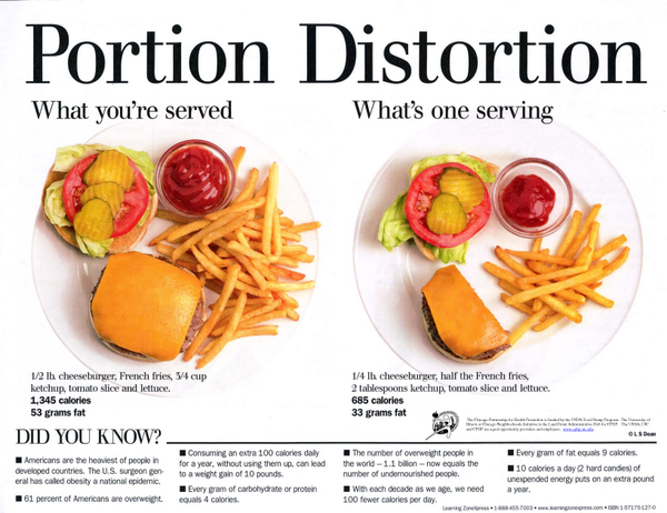 How many of you suffer from Portion Distortion???? If your portions are too big, even clean eating won't help your w… http://t.co/KZxW0YIej9