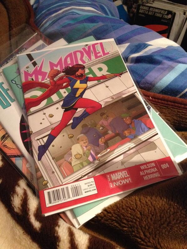 Just finished reading #ms #marvel @Marvel !! How I loved this issue ! I love this comic ! #marvel #marvelnow http://t.co/BlXbZJiJIh