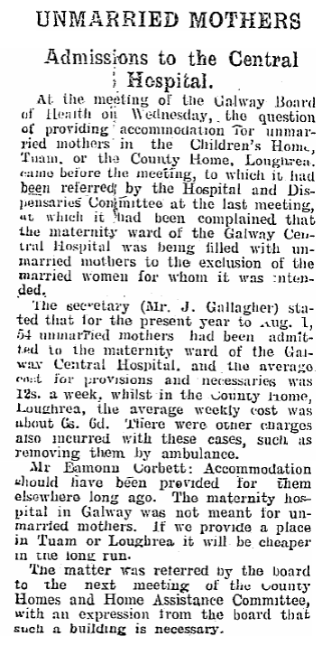 """The maternity hospital in Galway was not meant for unmarried mothers."" (CTribune, 01/09/1928) http://t.co/FJuNQvNePz"