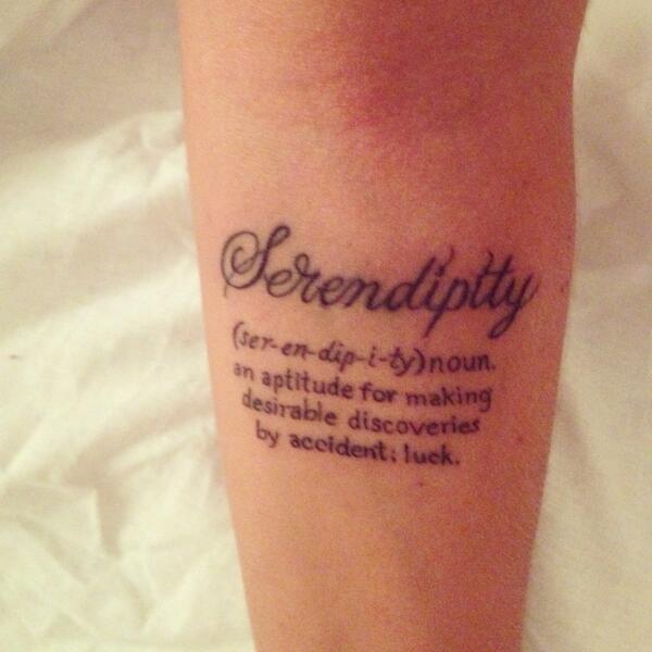 "Aѕтιιcartwright♱ On Twitter: ""New Arm Tattoo #serendipity"