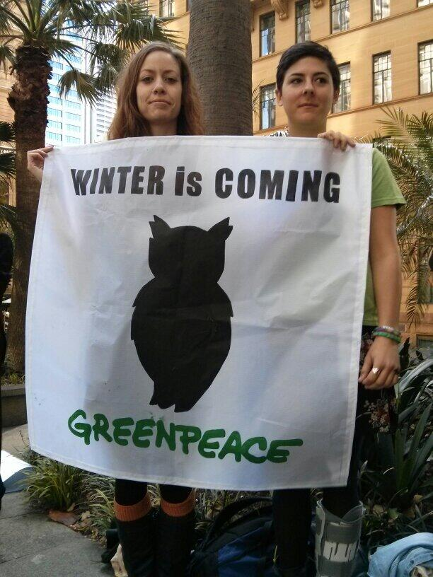 Twitter / GreenpeaceAustP: Cindy & Ella from Greenpeace ...