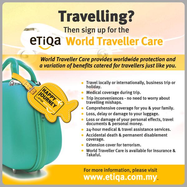 Sign up for Etiqa World Traveller Care plan & travel worry free anywhere in the world. http://t.co/aUB2meDs8i #etiqa http://t.co/z9RHBDo8XR