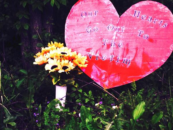 "Memorial to the 12 year old victim known only as PL stabbed 19 times by her 12 year old ""friends"". #waukesha @CNN http://t.co/J0WH5wniA6"