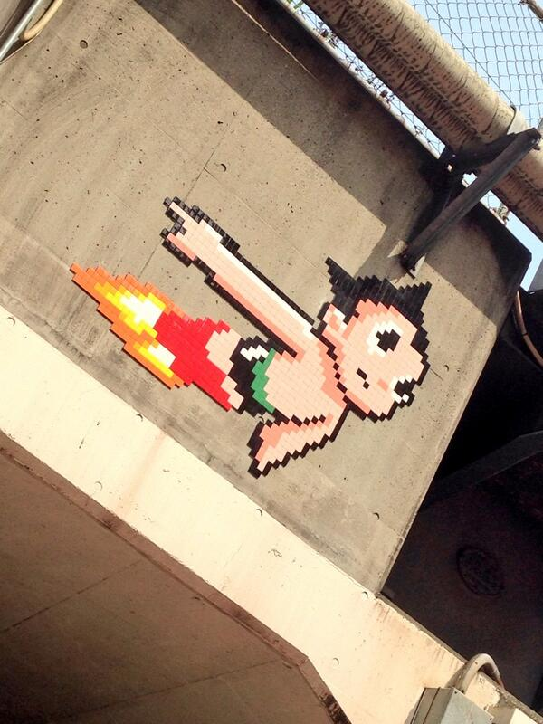 Astro Boy zooming over Tokyo >> http://t.co/VSsGVrkzaC