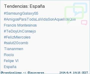 #salut20comb acaba de convertirse en TT ocupando la 6ª posición en España. Más en http://t.co/ib3D60pD0j #trndnl http://t.co/fwSnVvHMZA