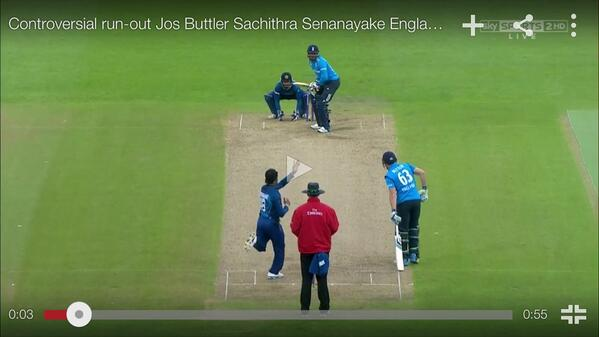 If he had bowled the ball as normal no yards were stolen. Buttler still in his crease. Naturally expected the ball to http://t.co/zUm6pWkBDx