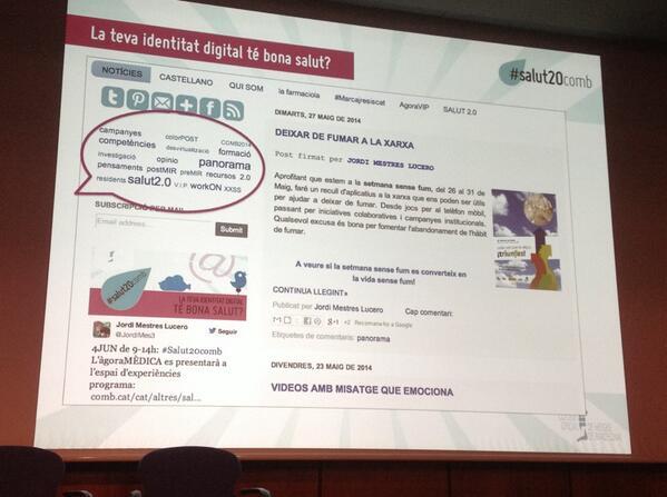 Blog personal/professional @JordiMes3 @AirisssA http://t.co/GICHfGyZ1o Endavant! Entre tots construïm! #salut20comb http://t.co/jQvkoFTtIT