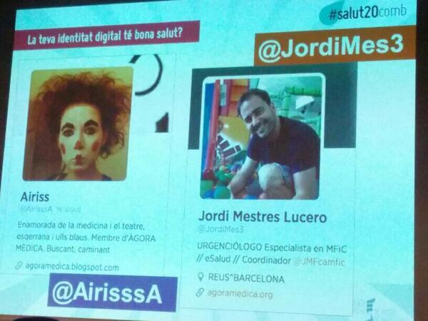 @JordiMes3 explicant el seu coprojecte amb @Airisssa #salut20comb #agoramedica http://t.co/GbmA2HjqZx